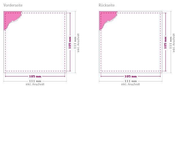 druckhelden de geschlossenes format 105 mm x 105 mm. Black Bedroom Furniture Sets. Home Design Ideas