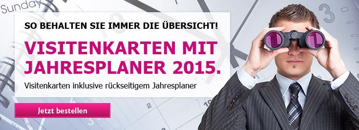 Visitenkarten Jahresplaner 2015