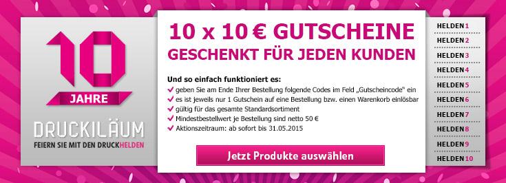 10x10 Gutscheine