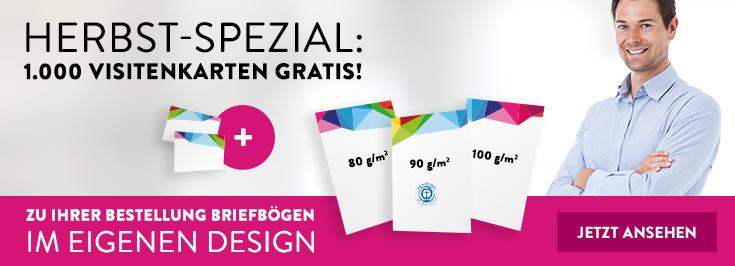 Herbst Spezial Paket Briefbogen + gratis Visitenk.