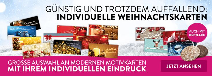 Weihnachtskarten Duftlack