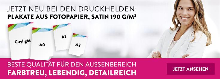 Fotopapier satin Digitaldruck